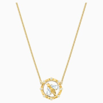 Bee A Queen 项链, 白色, 镀金色调 - Swarovski, 5482793