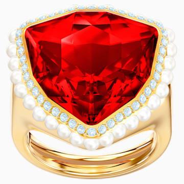 Lucky Goddess Cocktail 戒指, 紅色, 鍍金色色調 - Swarovski, 5482929