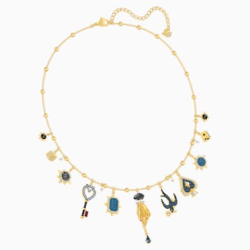 Tarot Magic Necklace, Multi-colored, Gold-tone plated - Swarovski, 5482976