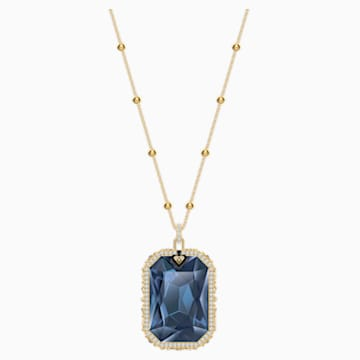 Tarot Magic Pendant, Blue, Gold-tone plated - Swarovski, 5482977