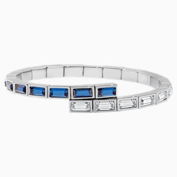 Bracelet Fluid Azzurro, bleu canard, Métal plaqué palladium - Swarovski, 5483212