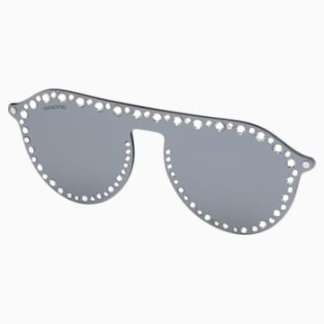 Apliques Click-On para gafas de sol Swarovski, SK5329-CL 16C, gris - Swarovski, 5483816