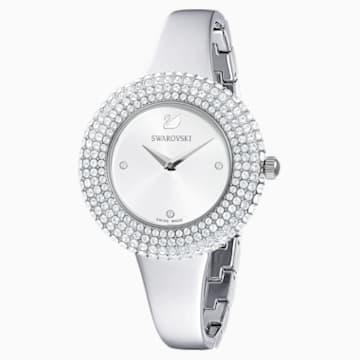 Reloj Crystal Rose, brazalete de metal, tono plateado, acero inoxidable - Swarovski, 5483853