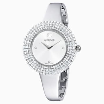 Crystal Rose Watch, Metal Bracelet, Silver, Stainless steel - Swarovski, 5483853