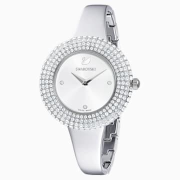 Montre Crystal Rose, bracelet en métal, ton argenté, acier inoxydable - Swarovski, 5483853