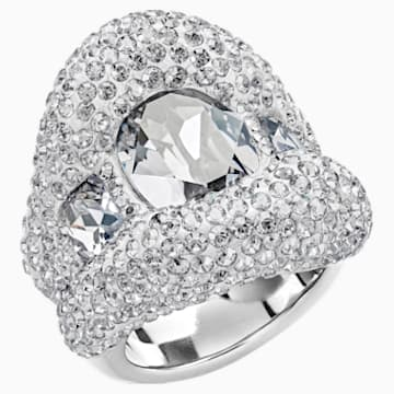 Tigris Ring, Gray, Palladium plated - Swarovski, 5483925