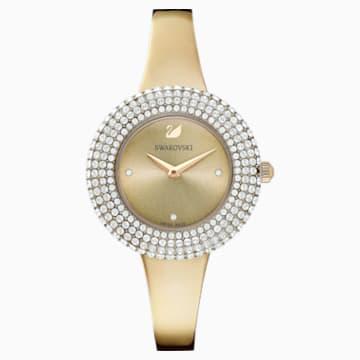 Ρολόι Crystal Rose, μεταλλικό μπρασελέ, χρυσό, PVD σε σαμπανί χρυσή απόχρωση - Swarovski, 5484045