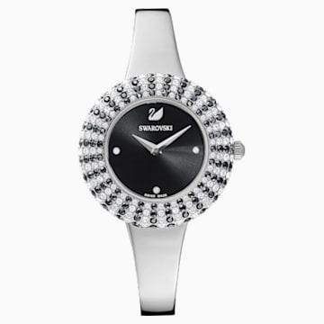Hodinky Crystal Rose s kovovým páskem, černé, nerezová ocel - Swarovski, 5484076