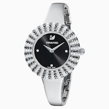 Zegarek Crystal Rose, bransoleta z metalu, czarny, stal nierdzewna - Swarovski, 5484076