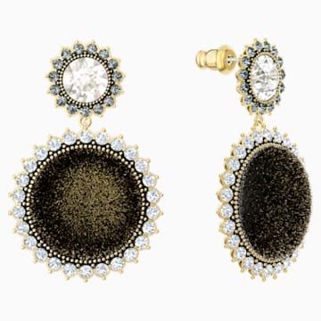 Millennium Drop Pierced Earrings, Multi-colored, Gold-tone plated - Swarovski, 5484152