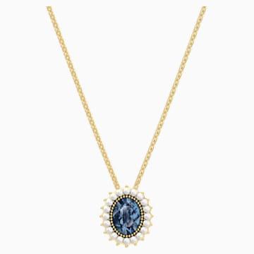 Millennium 項鏈, 藍色, 鍍金色色調 - Swarovski, 5484171