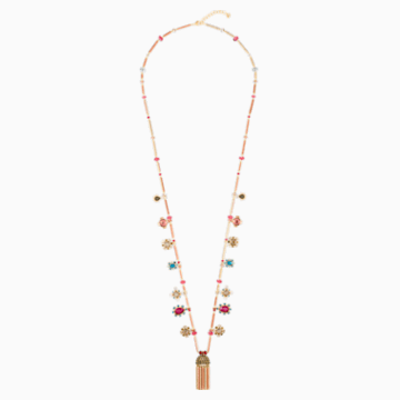 Origins Necklace, Multi-colored, Gold-tone plated - Swarovski, 5484418