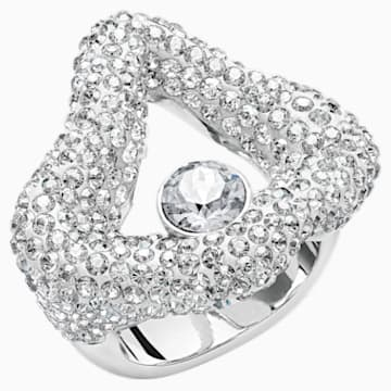Tigris Open Ring, Grey, Palladium plated - Swarovski, 5484500