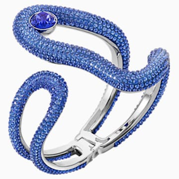 Tigris Cuff, Blue, Palladium plated - Swarovski, 5484502