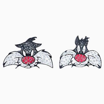 Gemelos Looney Tunes Silvestre, multicolor, Baño de Rodio - Swarovski, 5484687