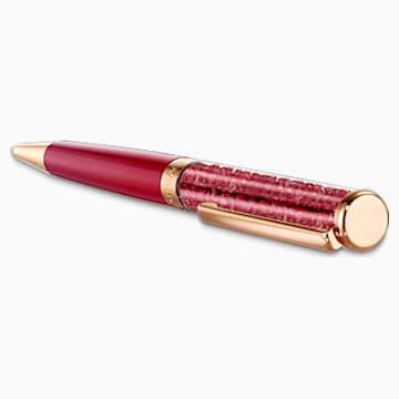 Crystalline Tükenmez Kalem, Kırmızı, Pembe altın rengi kaplama - Swarovski, 5484978