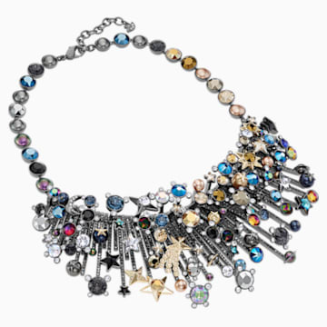 Nocturnal Sky Necklace, Multi-colored, Mixed metal finish - Swarovski, 5485481