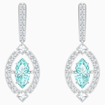 Swarovski Sparkling Dance Pierced Earrings, Green, Rhodium plated - Swarovski, 5485723