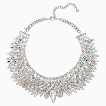 Polar Bestiary Necklace, Multi-colored, Rhodium plated - Swarovski, 5485881