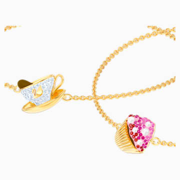 Nicest Set, Multi-colored, Gold-tone plated - Swarovski, 5486079