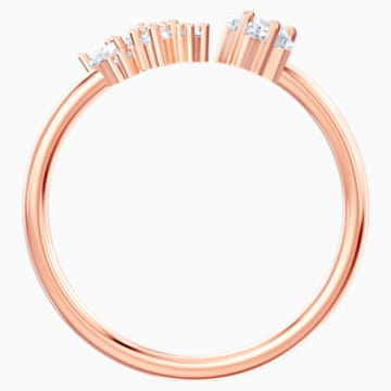 Penélope Cruz Moonsun Open Ring, White, Rose-gold tone plated - Swarovski, 5486350