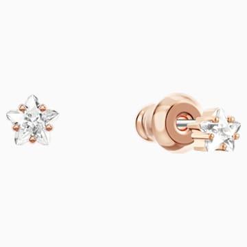 Boucles d'Oreilles « Ear-Jacket » Penélope Cruz Moonsun, blanc, Métal doré rose - Swarovski, 5486351