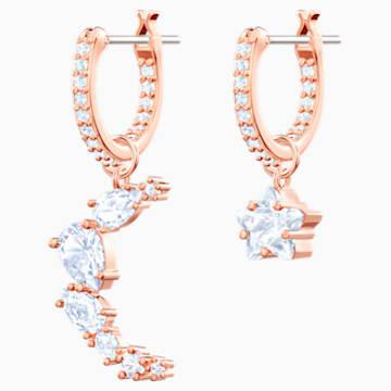 Orecchini a goccia a buco Penélope Cruz Moonsun, bianco, Placcato oro rosa - Swarovski, 5486354