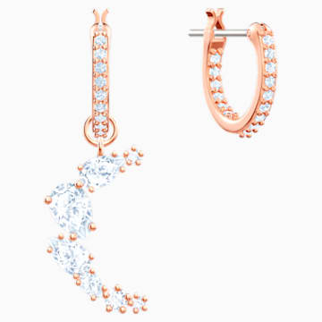 Penélope Cruz Moonsun Drop Ohrringe, weiss, Rosé vergoldet - Swarovski, 5486354