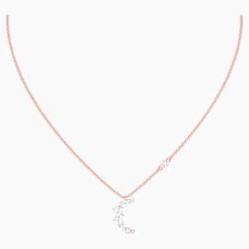 Penélope Cruz Moonsun 项链, 白色, 镀玫瑰金色调 - Swarovski, 5486357