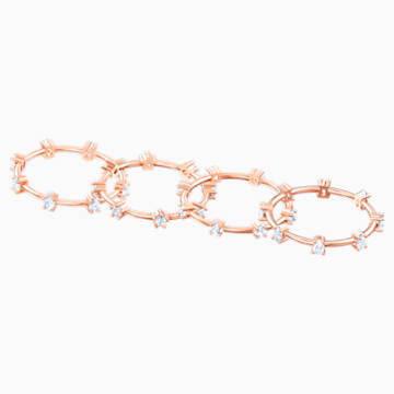 Anello Penélope Cruz Moonsun Cluster, bianco, Placcato oro rosa - Swarovski, 5486602