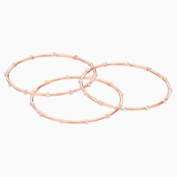 Penélope Cruz Moonsun Cluster Bangle, White, Rose-gold tone plated - Swarovski, 5486623
