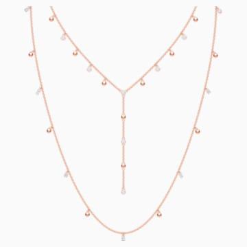 Penélope Cruz Moonsun 项链, 白色, 镀玫瑰金色调 - Swarovski, 5486650