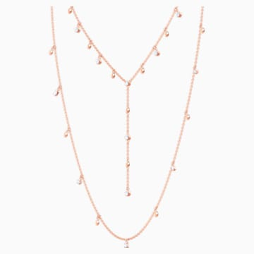 Penélope Cruz Moonsun 項鏈, 白色, 鍍玫瑰金色調 - Swarovski, 5486650