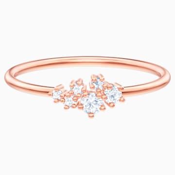 Anillo Moonsun, Blanco, Baño tono oro rosa - Swarovski, 5486808