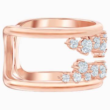 Anello con motivo North, bianco, Placcato oro rosa - Swarovski, 5487071