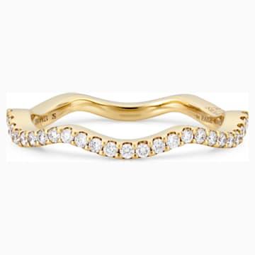 Arc-en-ciel Thin Band Ring, 18K Yellow Gold, Size 48 - Swarovski, 5487211