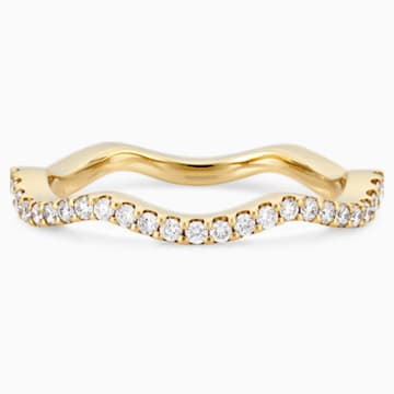 Arc-en-ciel Thin Band Ring, 18K Yellow Gold, Size 55 - Swarovski, 5487212