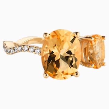 Arc-en-ciel Ring, Honey Topaz, 18K Yellow Gold, Size 48 - Swarovski, 5487215