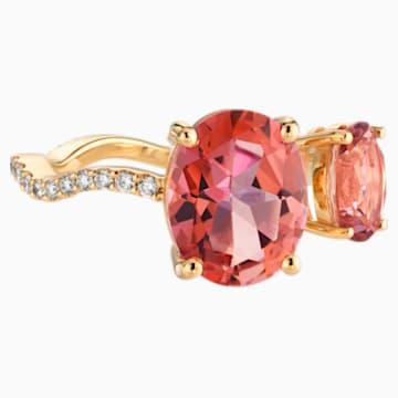 Arc-en-ciel Ring, Pink Topaz, 18K Yellow Gold, Size 48 - Swarovski, 5487219