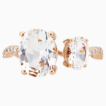 Arc-en-ciel Ring, White Topaz, 18K Rose Gold, Size 48 - Swarovski, 5487227