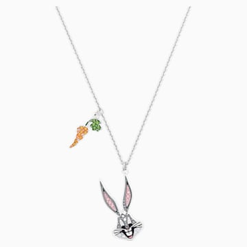 Looney Tunes Bugs Bunny Pendant, Multi-colored, Rhodium plated - Swarovski, 5487626