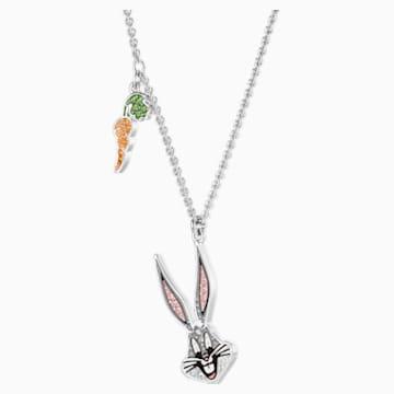 Looney Tunes Bugs Bunny Anhänger, mehrfarbig, Rhodiniert - Swarovski, 5487626