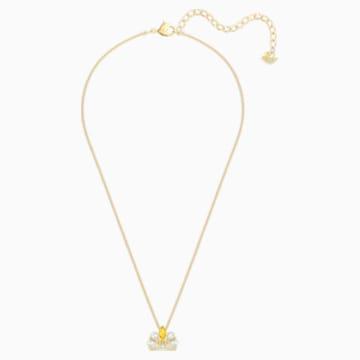 Bee A Queen 项链, 黄色, 镀金色调 - Swarovski, 5488187