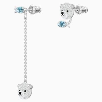 Polar 穿孔耳環, 多色設計, 鍍銠 - Swarovski, 5488192