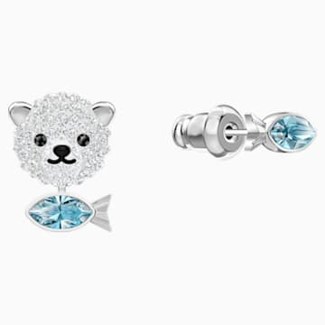 Polar Pierced Earrings, Multi-colored, Rhodium plated - Swarovski, 5488192