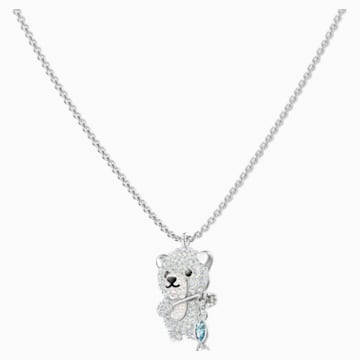 Polar Pendant, Multi-colored, Rhodium plated - Swarovski, 5488193