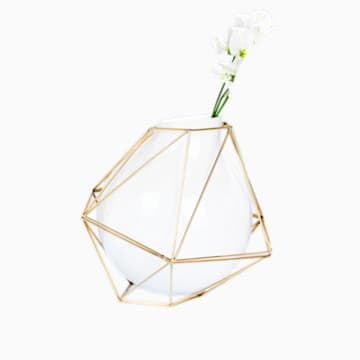 Florero Framework, pequeña, blanco - Swarovski, 5488385
