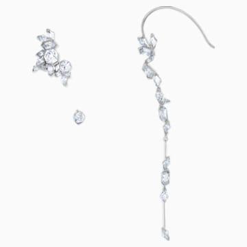 Ice Crack Кафф, Белый Кристалл, Рутениевое покрытие - Swarovski, 5489075
