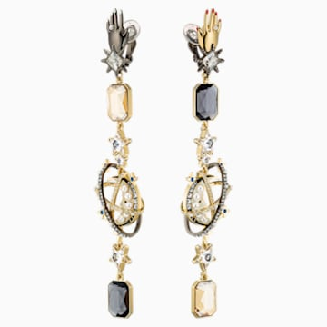 Chromancy Clip Earrings, Multi-colored, Mixed metal finish - Swarovski, 5489076