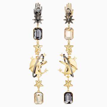 Boucles d'oreilles clip Chromancy, multicolore, Finition mix de métal - Swarovski, 5489076
